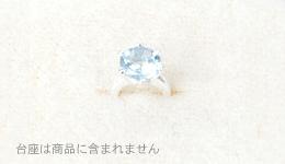 ベビーリングペ 誕生石3月 薄い水色