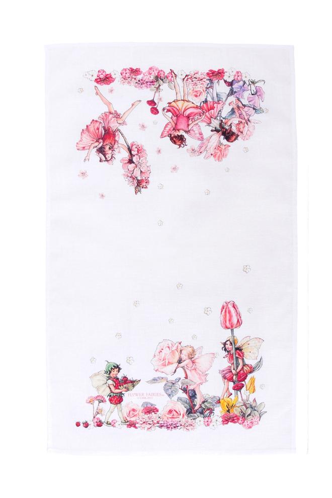ティータオル-フラワーフェア ピンク