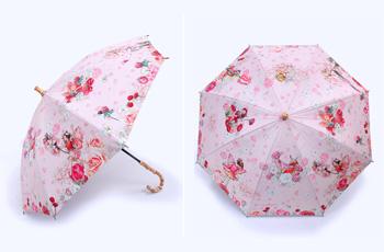 UVカット晴雨兼用長傘-フラ ピンク