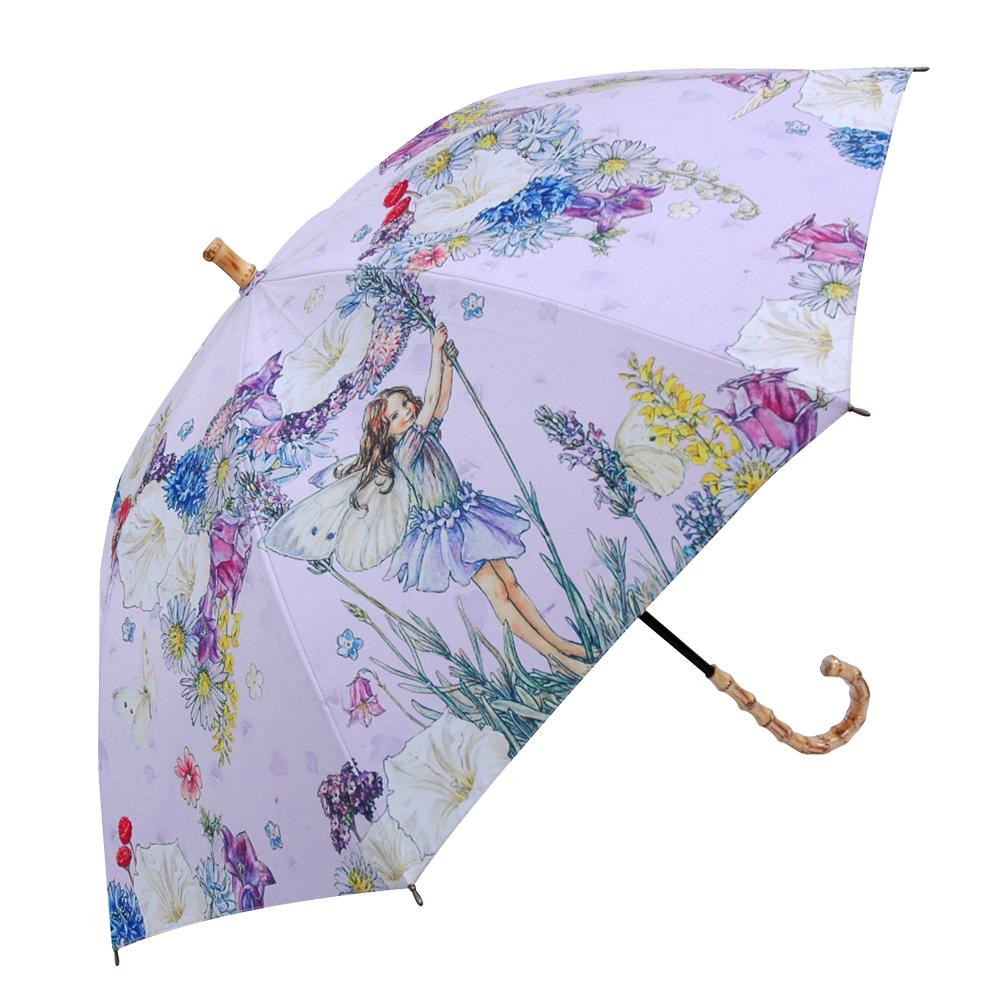 UVカット晴雨兼用長傘-フラワーフェ