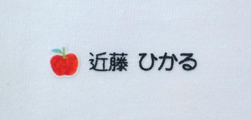 名前の コラージュ りんご 文字色黒