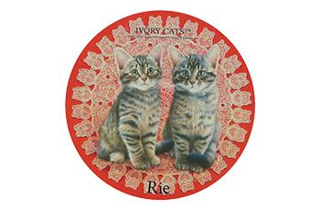 名入れダイカットマウス レースと子猫