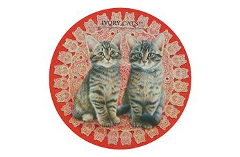 ダイカットマウスパッド レースと子猫