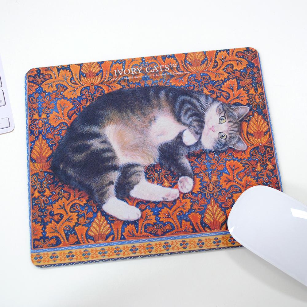ダイカットマウスパッド-アイボリーキ