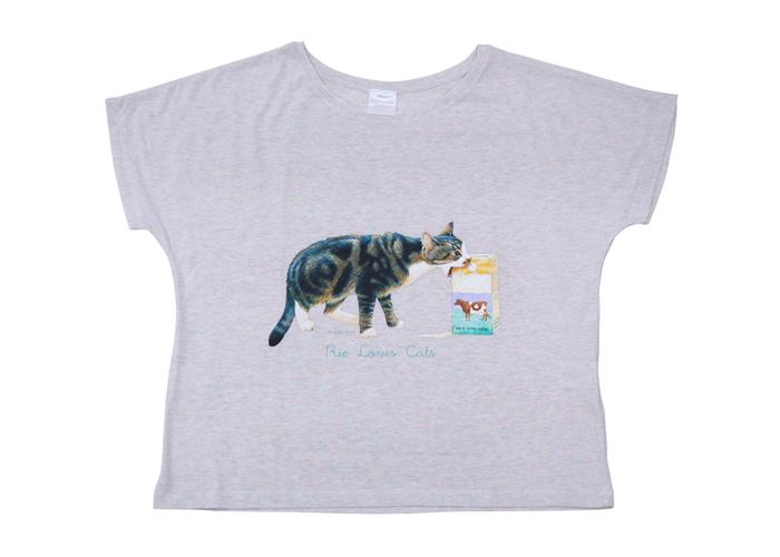お名前Tシャツ・ドルマンスリ ミルク