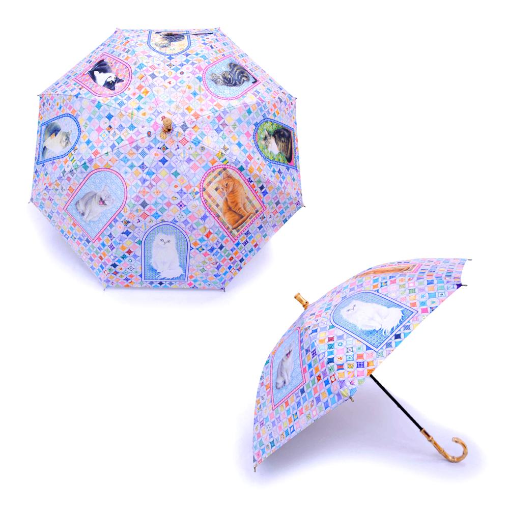 UVカット晴雨兼用長傘-アイボリーキ