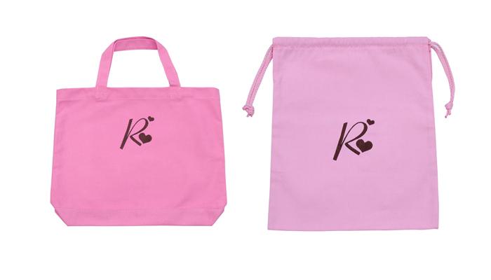 【VERY掲載】刺繍イニシャ ピンク