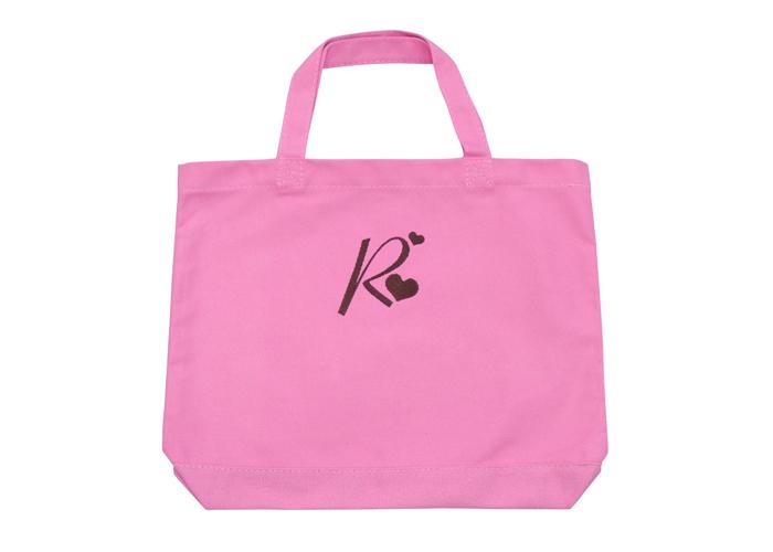 刺繍イニシャルレッスンバッグ ピンク