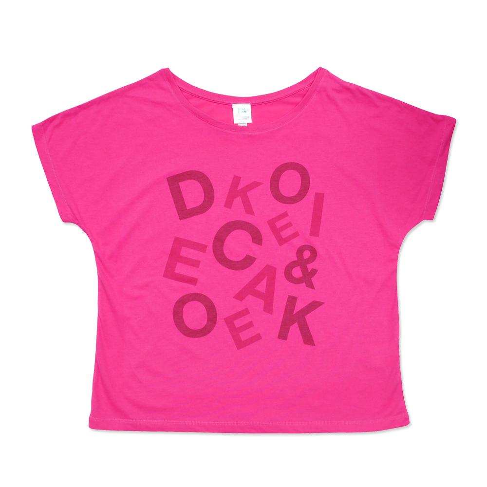 メッセージTシャツ・ドルマン ピンク