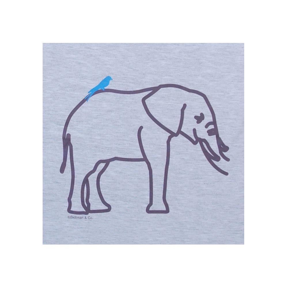 お名前親子トリプルTシャツ-いっしょだゾウ パパ用Tシャツ絵柄拡大