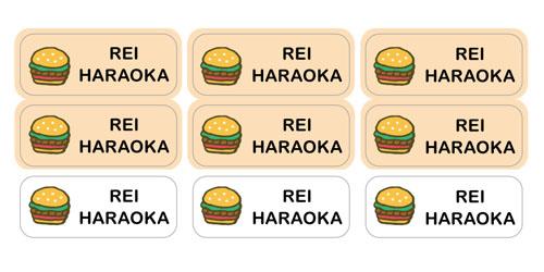 ノンアイロン・耐水ラミ ハンバーガー