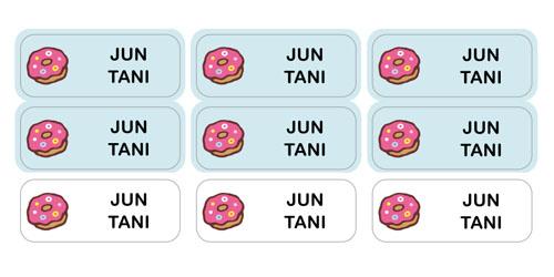ノンアイロン・耐水ラミネー ドーナツ
