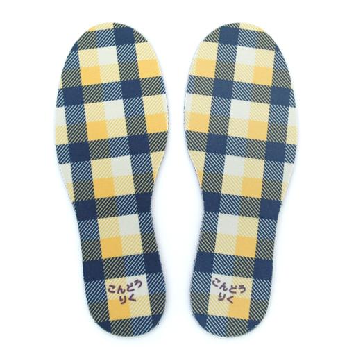 お名前インソール(靴の チェック黄色