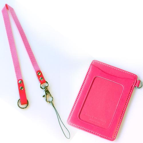ノワール単パスケース マルチ ピンク