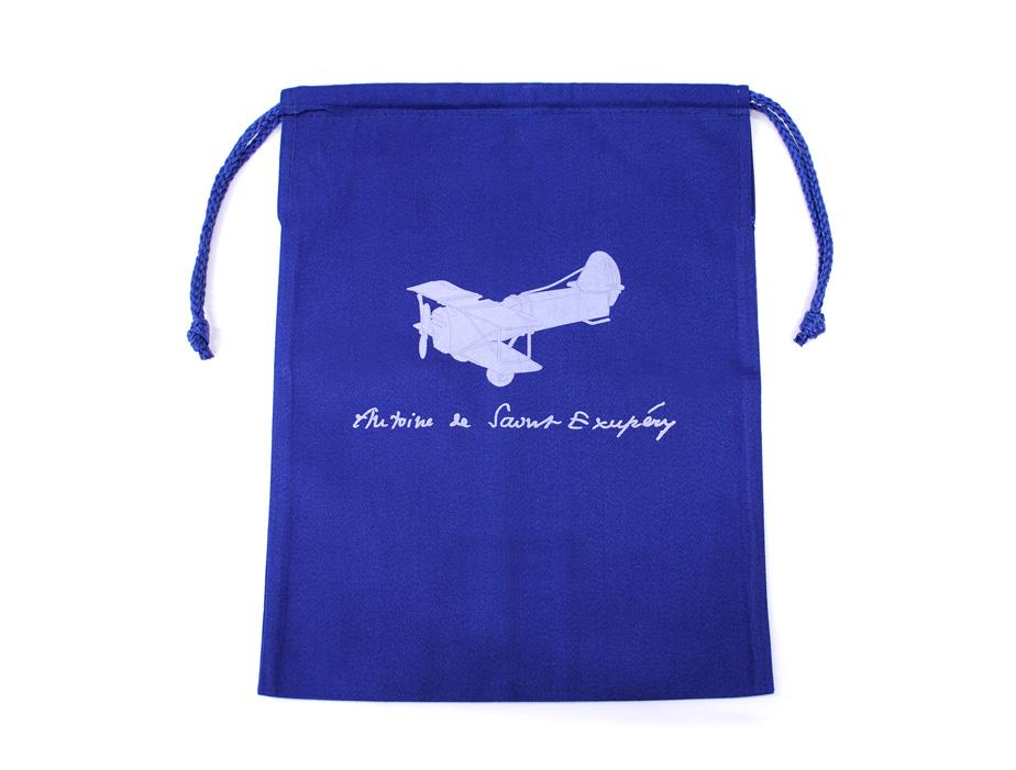 カラー巾着袋-サン=テグジュ 飛行機