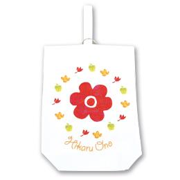 名入れ上履きケース-オリジナル お花