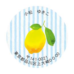 丸形アドレスシー レモン&ストライプ