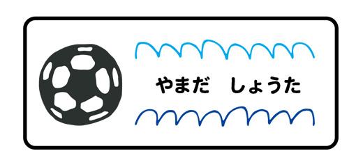 お名前シール(アイロ サッカーボール