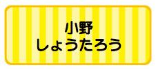 パターンお名前シール_ ボーダー黄色