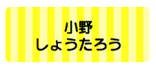 パターンお名前シール( ボーダー黄色