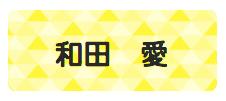 パターンお名前シ トライアングル黄色