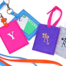 D-fel 刺繍イニシャルカードケース&ラゲッジタグセット