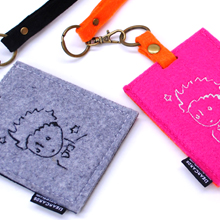 D-fel 刺繍カードケース&ラゲッジタグセット-星の王子さま
