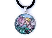 天然石アートペンダント フラワーフェアリーズ (薔薇の妖精)