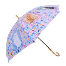 UVカット晴雨兼用長傘-アイボリーキャッツ