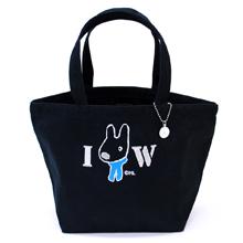 ディアカーズ刺繍イニシャルトートバッグ(S)-リサとガスパール
