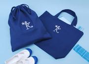 【VERY掲載】刺繍イニシャルレッスンバッグ&巾着袋セット