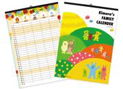 開始月を選べる ファミリーカレンダー-動物