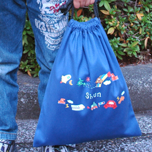お名前カラー巾着袋-オリジナル