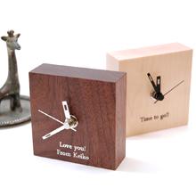 ディアカーズ 木製メッセージミニクロック